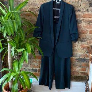 Zara green suit